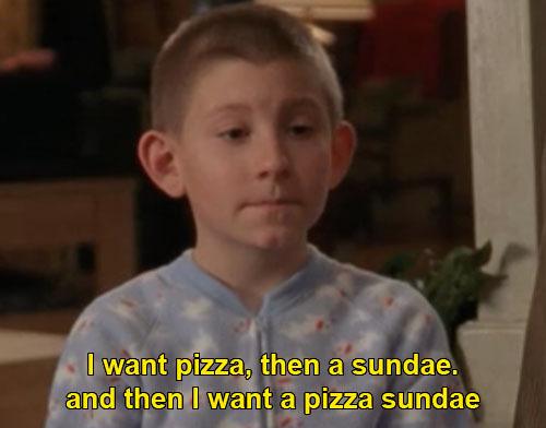 sundae pizza
